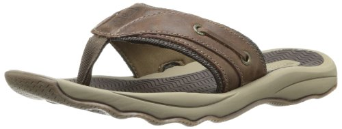 Topsider Sperry Männer Thong (Sperry Top-Sider Men's Outer Banks Thong Sandal,Brown,7 M US)