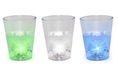 AS3PK Schnapsglas leuchtend 3 Stück (Led Shot Glas)