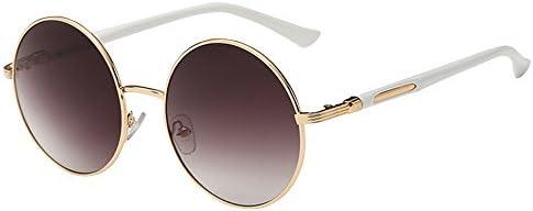 KINDOYO Retro Style Circle Sonnenbrille Runde Linse für Frauen