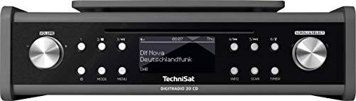 TechniSat DIGITRADIO 20 CD - Modernes & kompaktes DAB+ Küchen- & Badezimmerradio - Empfangsstarkes UKW Unterbauradio mit CD Player & Uhr