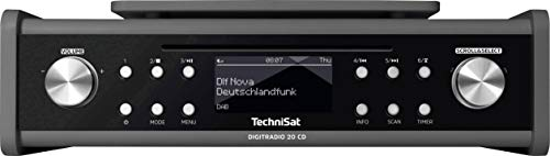 TechniSat DIGITRADIO 20 CD - Modernes & kompaktes DAB+ Küchen- & Badezimmerradio - Empfangsstarkes UKW Unterbauradio mit CD Player & Uhr (Uhr Mit Cd-player)