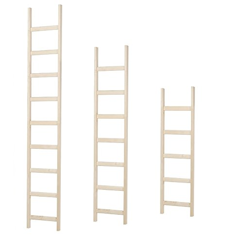Intercon Wooden Ladder with Thick Solid Spruce Wooden Bars Available in 3 Sizes 145/200/250 cm