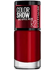 Maybelline New York Color Show Big Apple Nail Paint, Big Apple Red, 6ml