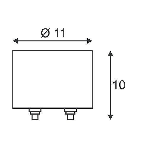 Slv - Transformador 100va sistema tija wave 12v cromo/cromada