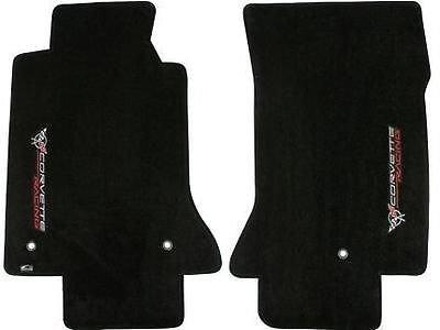 Passend für 1997-2004 C5 Corvette Classic Loop Fußmatten - gekreuzte Flaggen & Racing Logos nach der Türschwelle (Fußmatten C5 Corvette)