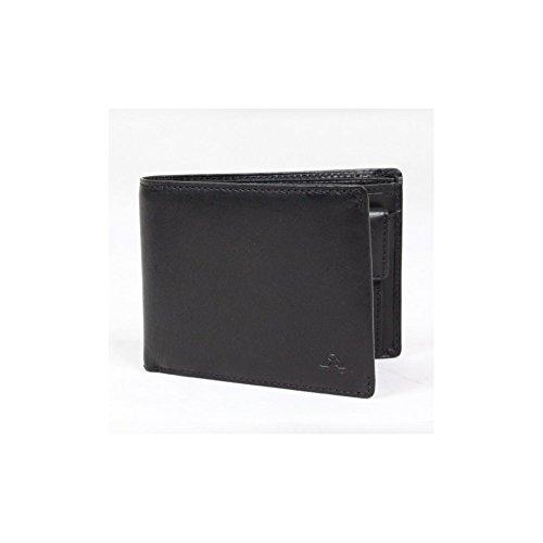 Petit portefeuille porte monnaie et porte cartes cuir vintage Tony Perotti NW5342 - Noir