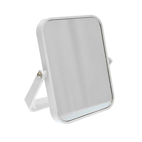 Carpemodo Kosmetik-Standspiegel rechteckig 18x11 cm 3-fache Vergrößerung Kunststoff Weiß