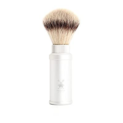 Muhle Synthetic Silvertip Fibre Travel Shaving Brush With Silver Handle by Muhle