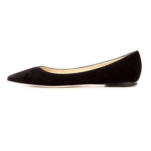 ELASHE - Femmes - Ballerines - Bout Pointu Chaussures - Classiques Ballerines - Talon plat - Bout pointu fermé Noir