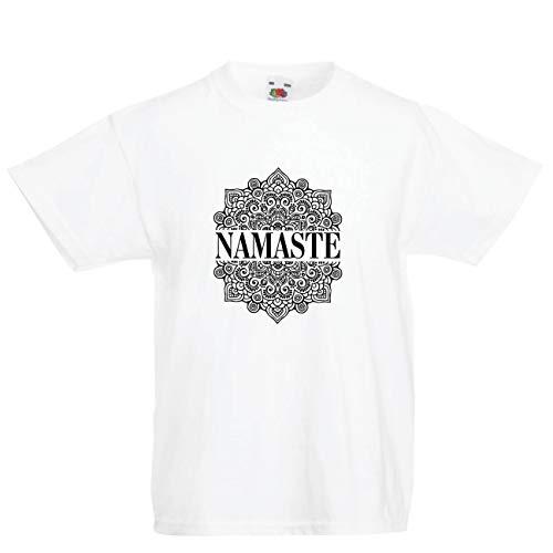 3532294dd lepni.me Camiseta para Niño/Niña Meditación Yoga Namaste Mandala Zen Regalo  Espiritual para