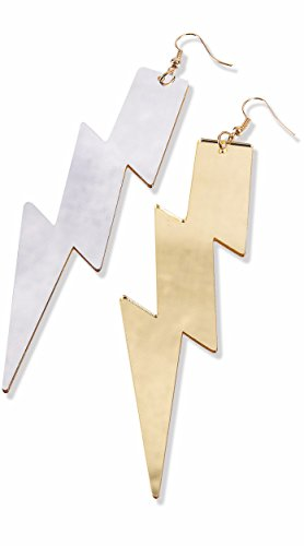 Superhero Reversible Lightning Bolt Costume Earrings Teen/Adult