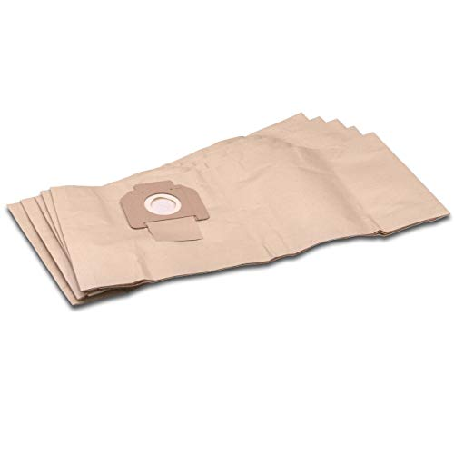 vhbw 5 Staubsaugerbeutel Filtertüten aus Papier für Staubsauger Saugroboter Mehrzwecksauger Makita 446L, 446LX, VC3012L, VC3012M
