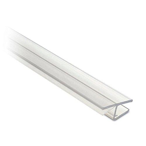 Lippendichtung für Glastür, Frontanschlag 180°, L 2500 mm für Glasstärke 10 mm