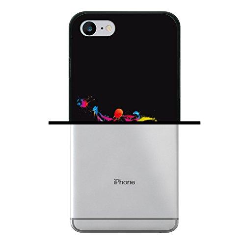 WoowCase Hülle Case für [ iPhone 7 ] Handy Cover Schutzhülle Strategie Fußballtisch Housse Gel iPhone 7 Schwarze D0007