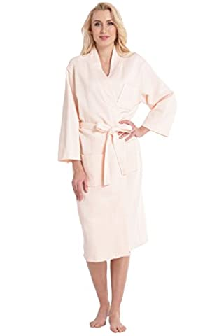 Table Ronde Legere - Aibrou Robe de Chambre Kimono Tissage Gaufré
