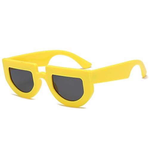 MINGW Mens Retro Sonnenbrillen Womens Irregular Ocean Piece Brillen Fashion Sonnenbrillen Fashion