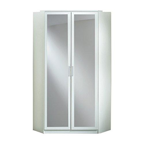 Kleiderschrank Türen (Wimex Kleiderschrank/ Eckschrank Click, 2 Türen, 1 Spiegel, (B/H/T) 95 x 198 x 95 cm, Alpinweiß)