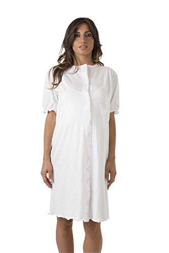 Premamy - Camicia Clinica - Colore: Bianco - Taglia:M