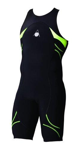 Aqua Sphere Energize - Traje de baño para competición para Hombre, Color Negro/Verde