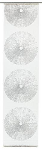 GARDINIA Flächenvorhang (1 Stück), Schiebegardine, Blickdicht, Flächenvorhang Stoff Waschbar, Baum-Maserung, Weiß/Grau, 60 x 245 cm (BxH)
