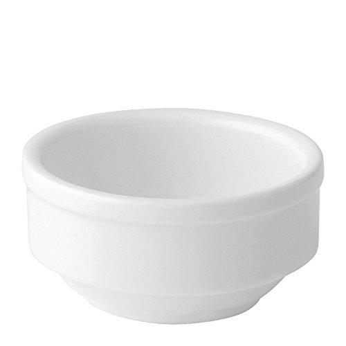Utopia Anton Noir en porcelaine fine Z03194-000000-b01006 Elements Pot, 5,7 cm (lot de 6)