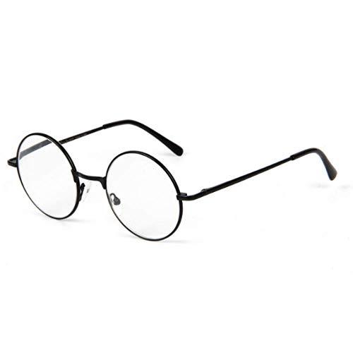 JRP Ultraleicht Retro Gemütlich Runder Rahmen Lesebrille,Einfach Hd Harz Ältere Brillen Für Männer Und Frauen Kratzfest Verschleißfest Exquisit/Schwarz / +1.5