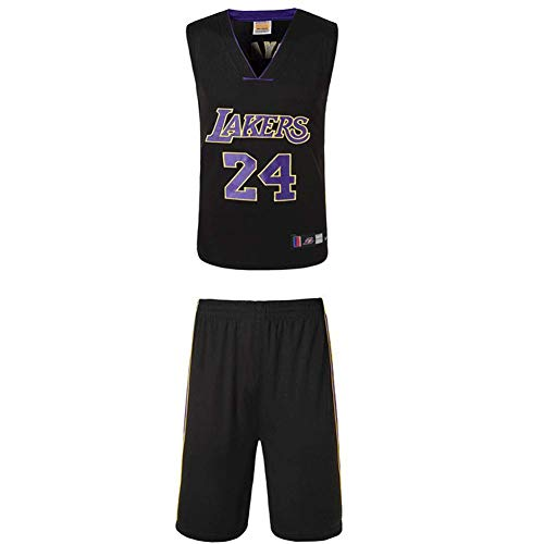 NBA Lakers Kobe 24th Bryant Basketball Anzug Trikot Herren Sport Jersey Lakers Basketball-Bekleidungssets Für Herren Tops Weste Für Basketballfans (XS - XXXL)