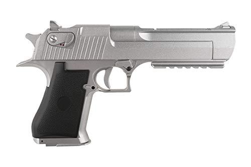 Elektrische Softair Pistole Metall CM121 AEP DE 50AE Silber Chrom 0,50J 6mm Akku Speedloader