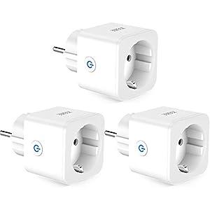 WLAN Smart Steckdose ZOOZEE Smart Plug Alexa Wifi fernbedienbar Kompatibel mit Alexa Echo Dot und Google Home Kein Hub 3 PCS