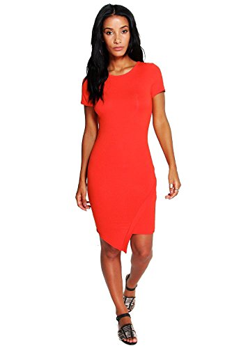 Orange Femmes Lydia Asymetic Robe moulante Orange