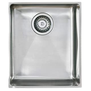 Astracast OXL1X BHOMEPK Top-Mount Kitchen Sink Square Stainless Steel Sink–Kitchen Sinks (Top-Mount Kitchen Sink, Square, Stainless Steel, Stainless Steel, 1Bowls, Square)