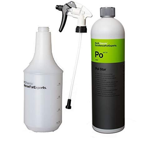 Koch Chemie Pol Star Textilreiniger 1L, Textil-, Leder & Alcantarareiniger und Inkl. Sprühkopf Star & Zylinderflasche 1 l für Sprühkopf Star