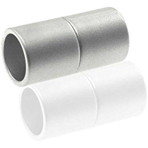 Chiusura magnetica Power Clip de, cilindro,, 7mm silber matt, 3 pezzi