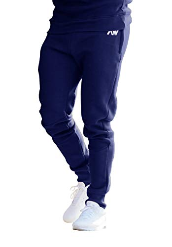 cd6cb8c344 Aspire Wear Jogging De Fitness Bleu pour Hommes - Pantalon De Sport Et De  Gym Slim