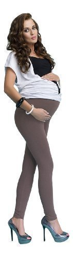 Leggings fur Schwangere Schwangerschaft aus Baumwolle Leibhohe hoch breit voll lang bis zu den Knocheln