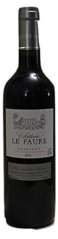 Vin - Château LE FAURE BORDEAUX ROUGE 2013 - Caisse de 6 bouteilles