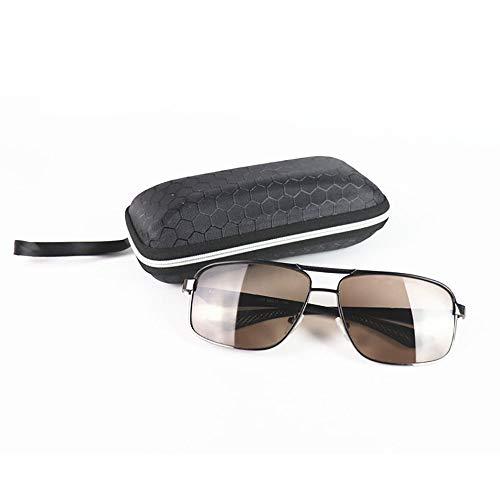 WULE-RYP Polarisierte Sonnenbrille mit UV-Schutz Komfortable große Herrenbrille für Wind- und strahlungssichere Sonnenbrillen. Superleichtes Rahmen-Fischen, das Golf fährt (Farbe : Schwarz)