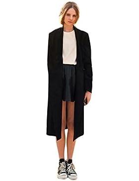 KaloryWee Abrigo Largo de Capa Larga Abierta para Mujer Trench - Abrigo para Mujer
