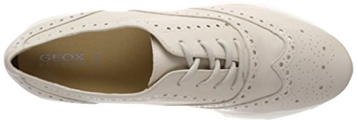 Geox D Gendry A, Scarpe Stringate Brouge Donna Beige (Lt Taupe)