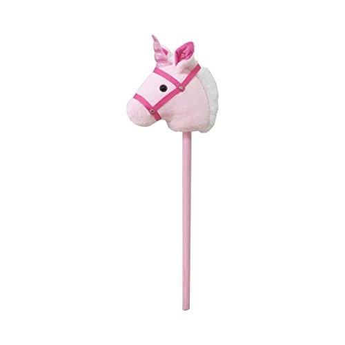 solini Steckenpferd Einhorn mit Sound – Steckeneinhorn mit Pferde-Geräusch – rosa/pink/weiß