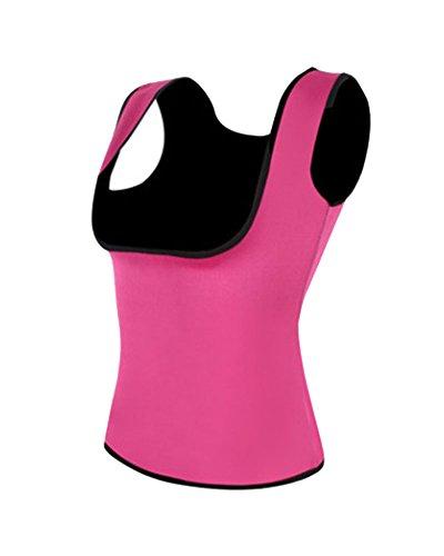 Faja Reductora Mujer Camisetas Chaleco para Adelgazar Neopreno Abdomen Torácico Perder Peso Quema de Grasa Sauna Adelgazantes Corset para Sudoración Chaleco Rosa 3XL