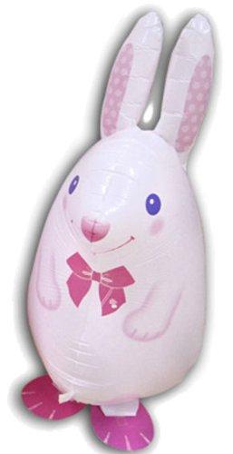Preisvergleich Produktbild 1 Stück Folienballon AirWalker 'White Rabbit - Hase', weiß, ca. 60 cm, OHNE LOLLIPOP®-Gasfüllung