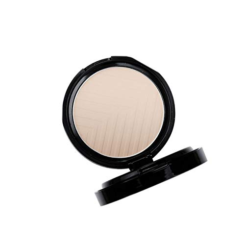 DEjasnyfall Dual Use Frauen Gesichts Make-Up Stiftungen Pulver Wasserdicht Aufhellen Gesicht Concealer Gedrückt Pulver Highlight Lidschatten (dunkle Hautfarbe) -
