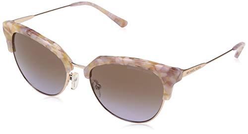 Michael Kors Damen SAVANNAH 334168 54 Sonnenbrille, Pastel Pink Mosaic/Shiny Rose/Brownpurplegradient,