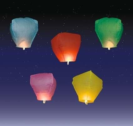 20 chinesischen Sky Fly Fire Laternen Wish Party Hochzeit Geburtstag, mehrfarbig