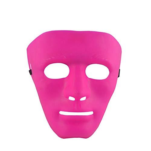 Set Jabbawockeez Kostüm - Hffan Halloween Tanzmaske Lustige Kostüm Party Herren Bart Gesichtshaar Spiel Schnurrbart Prom Party Maske Street Dance Maske Solide Masquerade Requisiten Kostüm Cosplay Karneval Gesichtsmaske