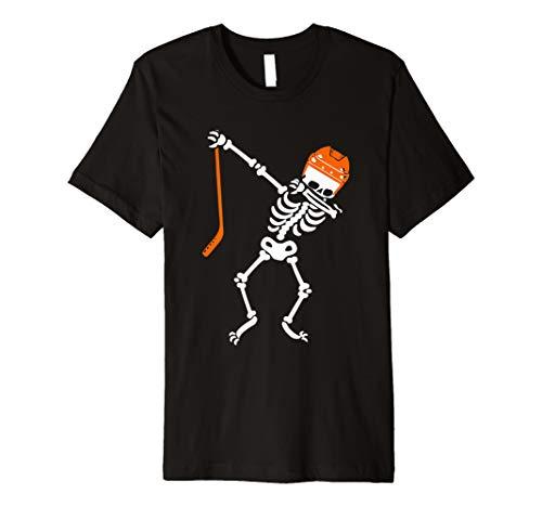 Sanftes Skelett Halloween Hockey T-Shirt DAB Dance