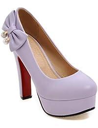 46554154ca5f08 HRCxue Pumps Super hohe Ferse Frauen Schuhe runden Kopf dick mit flachen  Mund einzelne Schuhe Bogen