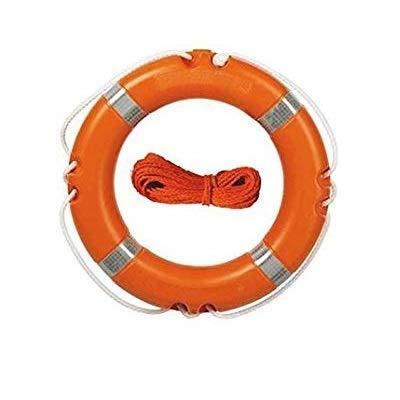Depory 25Cm Salvagente Anulare da Parete Nautica Oceane Decorativo per Casa Bar Rosso