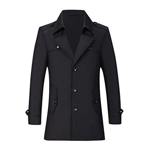 MIRRAY Herren Casual Trenchcoat Fashion Business Lange dünne Mantel Jacke Outwear